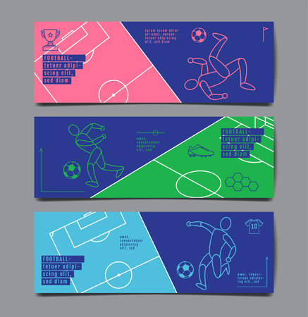 Template Sport Layout Design, Flat Design, single line,  Graphic Illustration, Football, Soccer, Vector Illustration. Reklamní fotografie - 120704945