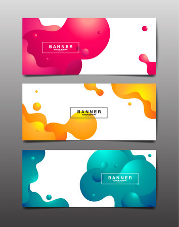 Set of Abstract Background, liquid ,fluid, texture design, Template layout, vector