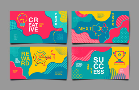 annual report 2020,2021 ,future, business, template layout design, cover book. vector colorful, infographic, abstract flat background. Illusztráció