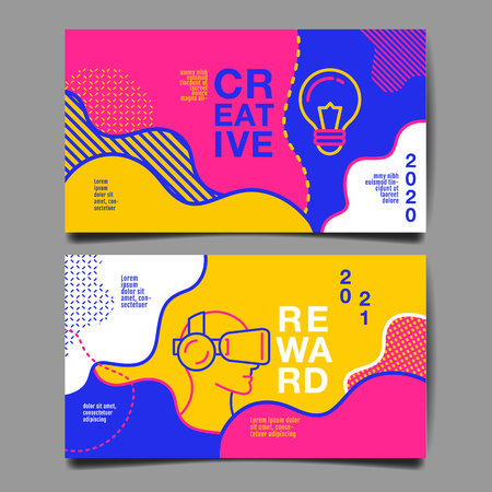 annual report 2020,2021 ,future, business, template layout design, cover book. vector colorful, infographic, abstract flat background. 向量圖像