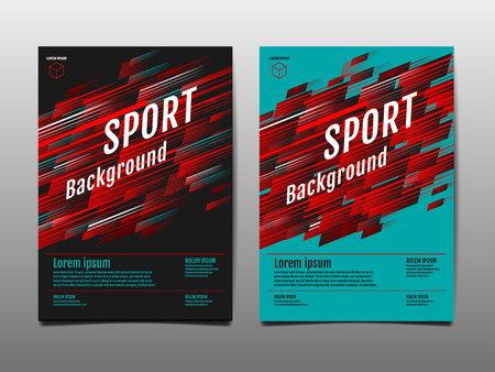 Layout template Design, Sport Background, Dynamic Poster, Banner, Vector Illustration. Banco de Imagens - 122826010