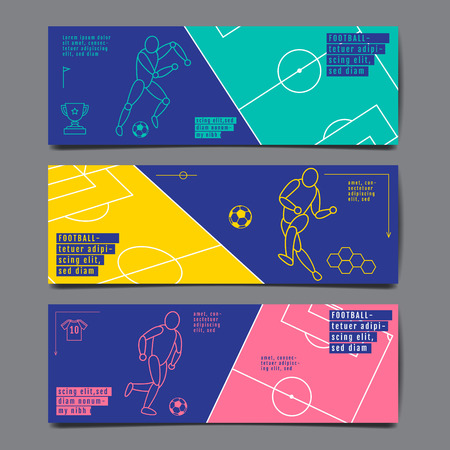 Template Sport Layout Design Flat Design single line Graphic Illustration, Soccer, Vector Illustration.