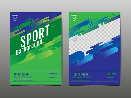 Layout template Design, Sport Background, Dynamic Poster, Banner, Vector Illustration.