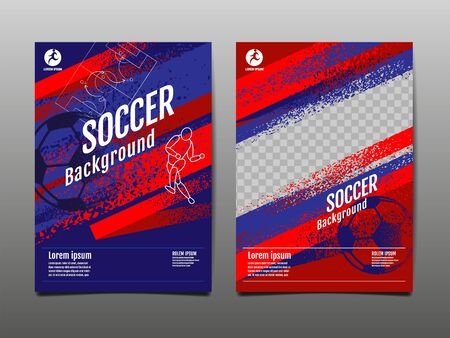 Template Sport Layout Design, grunge Design, Brush ,speed,  Graphic Illustration, Football, Soccer, Vector Illustration.