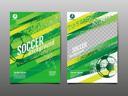 Template Sport Layout Design, grunge Design, Brush, speed,  Graphic Illustration, Football, Soccer, Vector Illustration. Illusztráció
