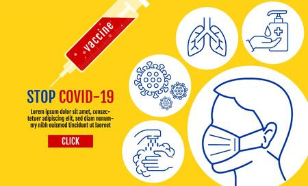 People wearing protective Medical mask for prevent virus Covid-19, Coronavirus Protection Related Vector Line Icons, vector, Contains such Icons as Protective Measures, Coronavirus Symptoms.