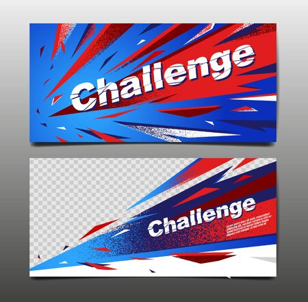 Challenge Layout , template Design, Abstract Background, Sport Dynamic Poster, Brush Speed Banner, grunge ,Vector Illustration. 스톡 콘텐츠 - 146413008