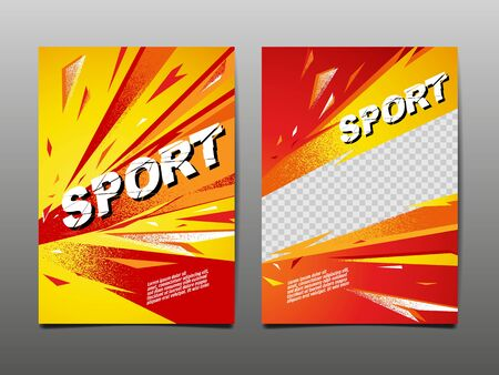 Sport Dynamic Banner, Template Design Layout , Abstract Background, Brush Speed Style, grunge ,Vector Illustration.