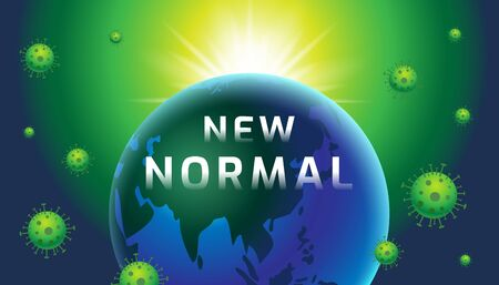 New Normal, Earth, banner design template, today, Typography, vector Illustration.