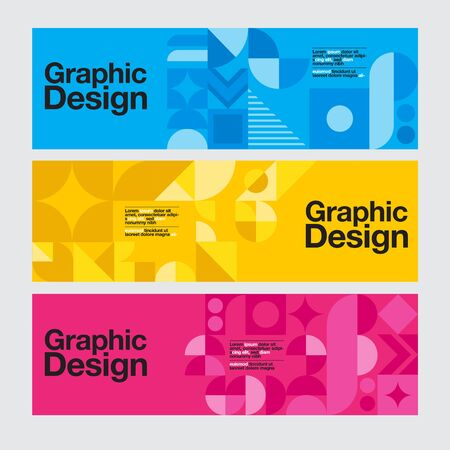Graphic Design, Geometry Shape, Blue , Banner ,Layout Template, vector illustration.