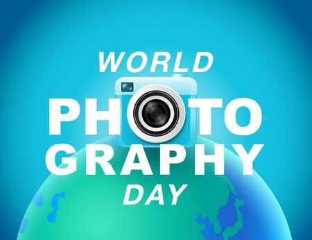 World photography day , event , vector, banner, logo, Typography. 스톡 콘텐츠 - 148775819