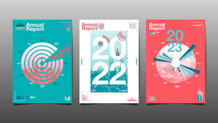 annual report 2020,2021,2022,2023 ,future, business, template layout design, cover book. vector illustration,presentation abstract flat background. 向量圖像