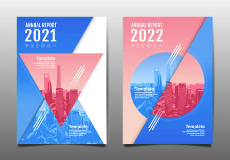 Annual report 2020,2021,2022 future, business, template layout design, cover book. vector illustration.