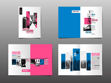 Layout Design Template, Cover Book, Annaul Report, City Abstact Background