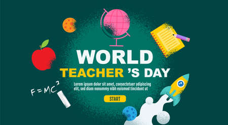 World Teacher 's Day, back to school, Template banner design, vector