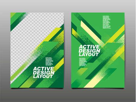 Active design Layout ,template Design, Sport Background, Dynamic Poster, Brush Speed Banner, Vector Illustration.