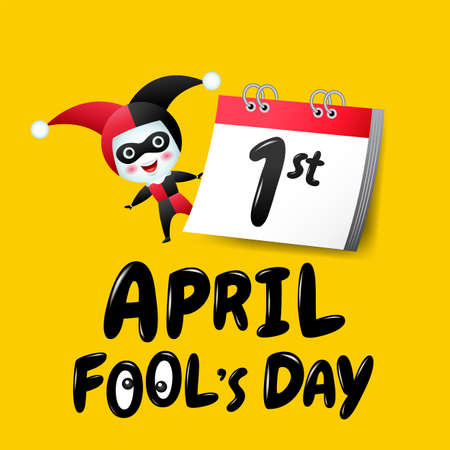 April fool's day, Typography, Colorful, flat design Ilustracja