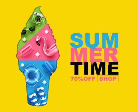 summer time , layout design, banner design, cover book,   template , vector illustration