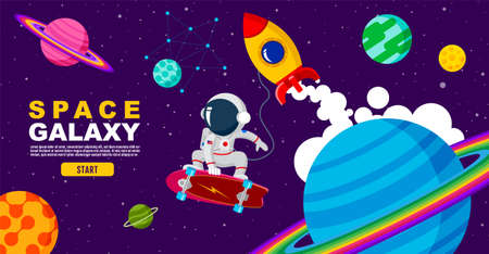 space. galaxy , surf skate, universe , design. vector illustration Ilustracja