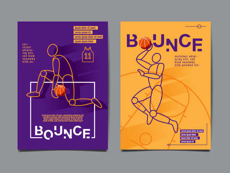 Collection of basketball, layout design, sport banner
