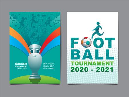 European Soccer Tournament, 2020-2021, background Illustration.