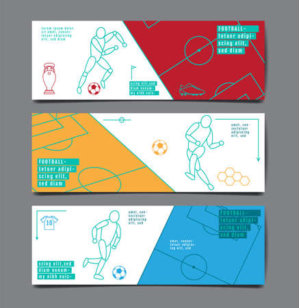 Football Tournament, Sport layout design , soccer , background Illustration.