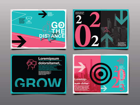 annual report 2021,2022 ,2023 future, business, template layout design, cover book. vector illustration , presentation abstract flat background