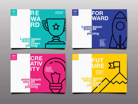 annual report ,future, business, template layout design, cover book. vector illustration , presentation abstract flat background Ilustracja