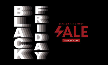 Black Friday, sale, banner design template, Black color, limited time only, abstract background, vector.
