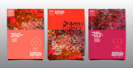 annual report , business, template layout design, cover book. vector Ilustracja