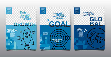 Template layout design, Business  cover book , Blue tone