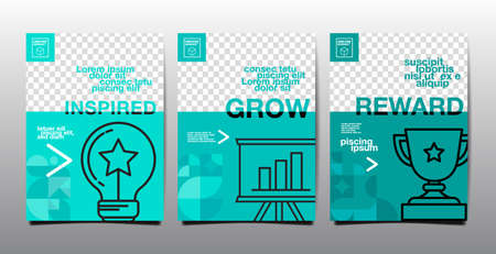 template layout design, cover book. vector, turquoise tone