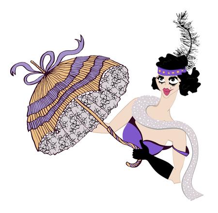 Girl dancer attire design. Illustration