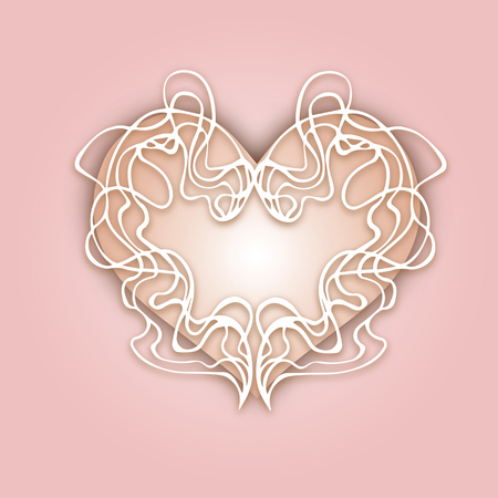 Abstract heart eps 10 - stock vector Ready for your design, greeting card, banner. Vector illustration.Gentle color. Art nouveau style Illustration