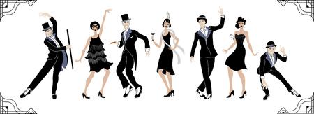 Charleston Party. Gatsby style set.
