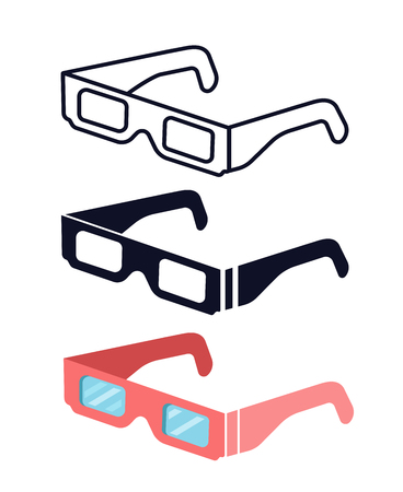 Total Solar eclipse glasses. safely view the solar eclipse.Protective glasses vector set. Illustration