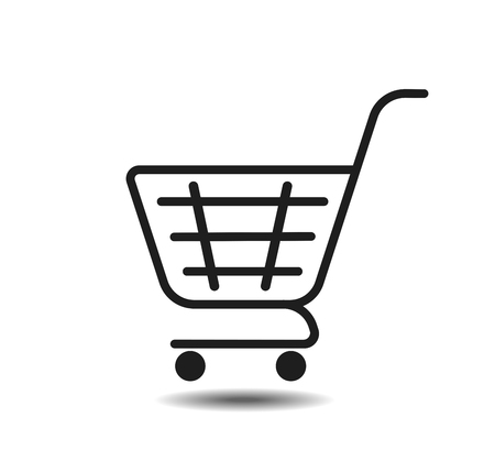 basketball icon. Grocery shopping, special offer, vector line icon design.trolley icon  イラスト・ベクター素材