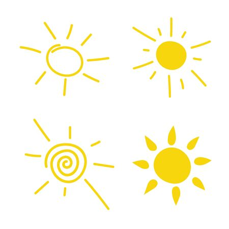 Flat sun icon. Sun pictogram. Trendy vector summer symbol for website design, web button, mobile app. Template illustration.Simple sun shining