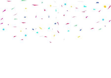 Party illustration falling birthday festive.Colorful confetti on white background.Celebration & Party.Vector Illustration.Vector colorful geometric. Ilustração