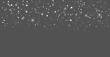 Seamless realistic falling snow or snowflakes.Isolated on transparent background-stock vector.Blizzard