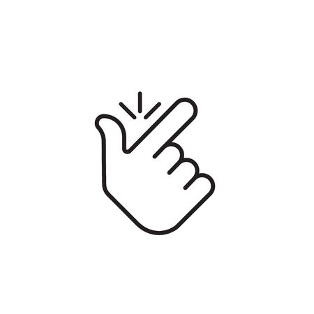 Snap finger . concept make flicking fingers.popular gesturing.linear abstract trend simple okey  graphic design isolated on white background.thin line.snapping fingers hand icon.