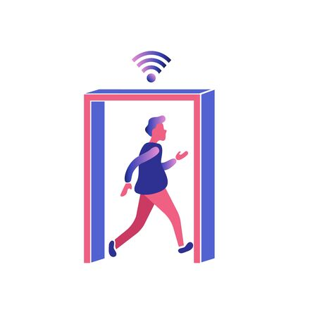 WI-fi connection.internet concept.Vector illustration, communicate through internet.Virtual relationships, online dating and social networking concept.
