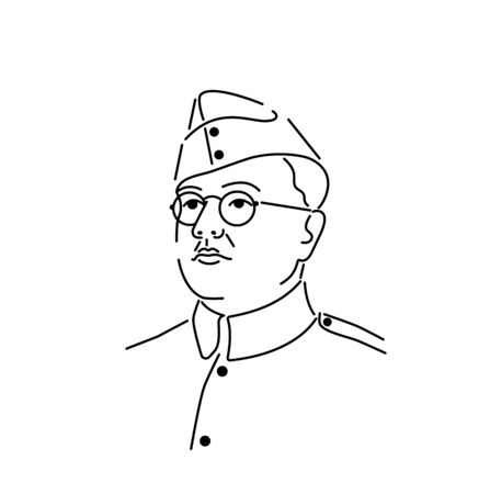 Indian national hero. Vector typography or  design.illustration of Tricolor India background with Nation Hero and Freedom Fighter.