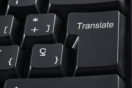 translate: Teclado de computadora con la palabra traducir en lugar de la tecla Intro