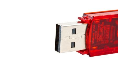 flashdisk: Closeup of red mass storage unit