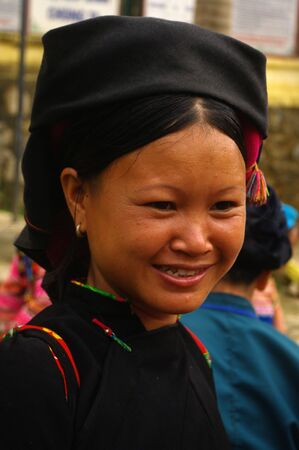 Nung ethnic black woman in the region of Xin Man Ha Giang Province, northern Vietnam