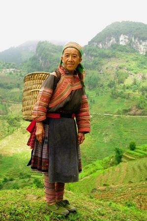 flowered: Grandmother Hmong flowered