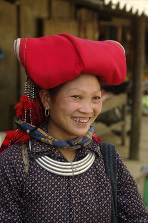 Hmong redwoman  Stock Photo - 7388672