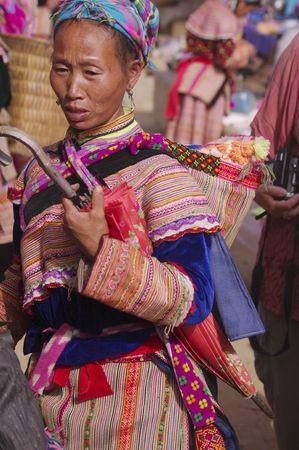 culturally: Flowered Hmong Woman
