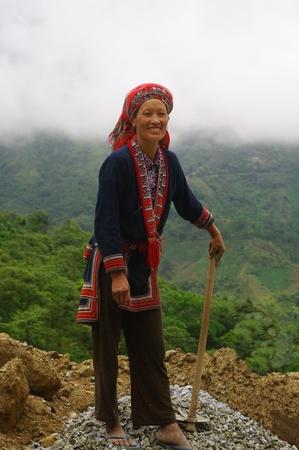 Red Dao ethnic female Stock Photo - 8428515